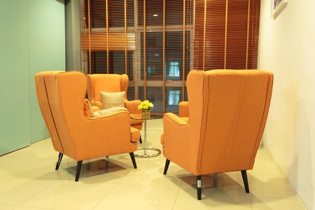 living room and modern chairs Stock Photo