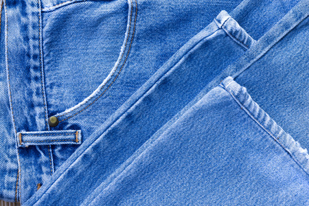 Blue jeans on white background Stock Photo
