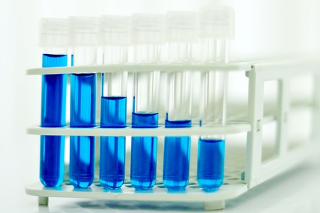 Test tubes with colored reagent Stock Photo - 10108640
