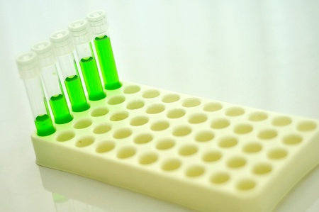 Test tubes with colored reagent Stock Photo - 10108633