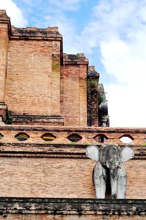 hoary: Ruins, Wat chedi luang, Chiangmai, Thailand