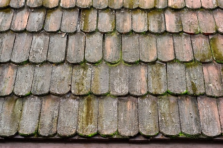 hoary: Old wood roof, Thai style