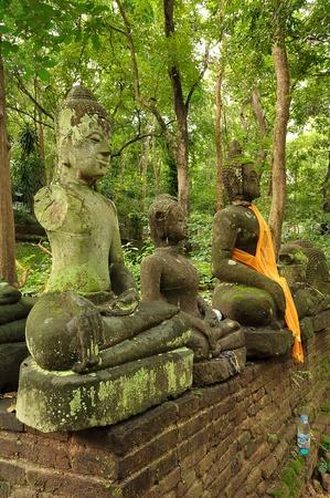 outworn: Buddha image Stock Photo