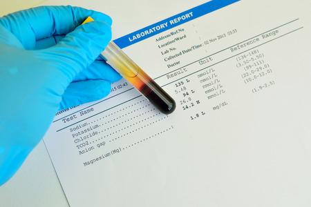 Blood electrolyte result