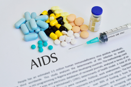 aids: Drugs for AIDS treatment Stock Photo