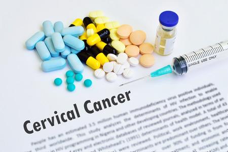 cervicales: Medicamentos para la enfermedad de cáncer de cuello uterino Foto de archivo
