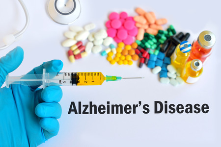 alzheimer s disease: Drugs for Alzheimers disease Stock Photo