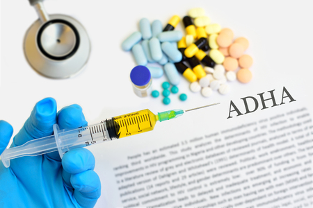 deficit: Drugs for Attention Deficit Hyperactive Disorder ADHD Stock Photo
