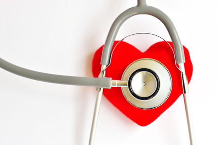 Heart with stethoscope, Heart healthy concept