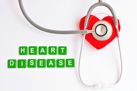 failure: Heart with stethoscope, Heart disease concept