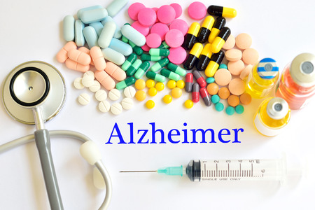 neuronal: Drugs for Alzheimers disease Stock Photo
