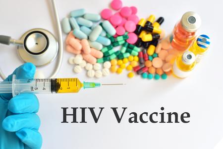 vaccine: HIV vaccine Stock Photo