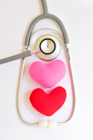 lipoprotein: Heart with stethoscope, Heart healthy concept