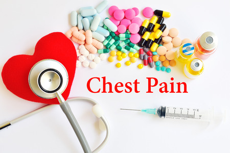 chest pain: Chest pain Stock Photo