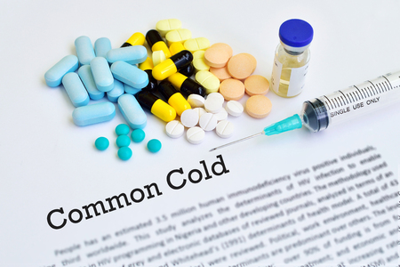 h5n1: Drugs for common cold Stock Photo