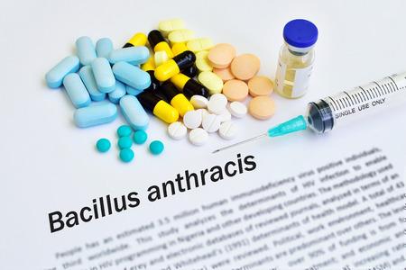 bacillus: Drugs for Bacillus anthracis treatment Stock Photo