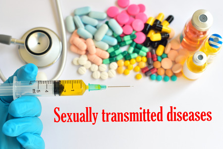 transmitted: Sexually transmitted diseases Stock Photo