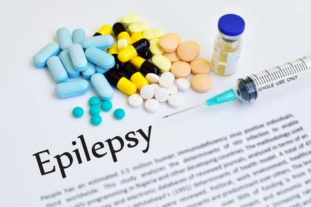 convulsión: tratamiento de la epilepsia Foto de archivo