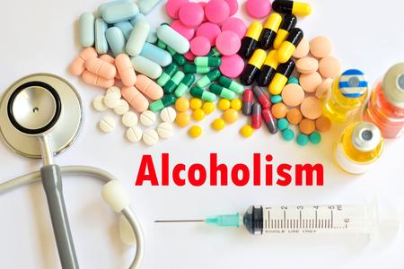 alcoholismo: Los fármacos para el tratamiento del alcoholismo Foto de archivo