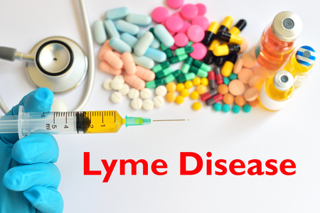lyme: Drugs for Lyme disease treatment Stock Photo