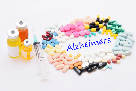 alzheimer: Drugs for Alzheimer disease Stock Photo