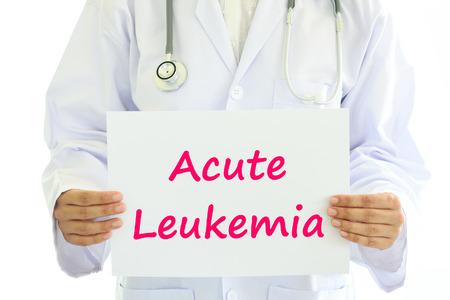 acute: Acute leukemia