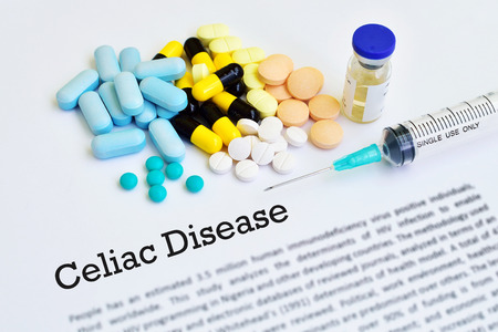 intestinal cancer: Drugs for celiac disease treatment, medical concept