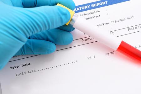 acido: resultado de la prueba de ácido fólico