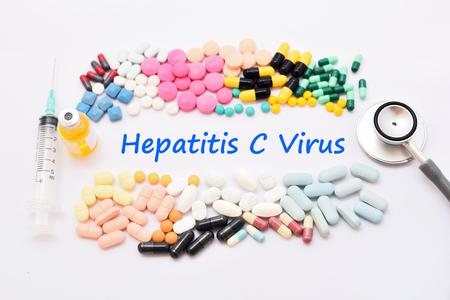 hepatitis: Drugs for hepatitis C virus (HCV) treatment Stock Photo