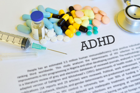 deficit: Drugs for Attention Deficit Hyperactive Disorder (ADHD) Stock Photo