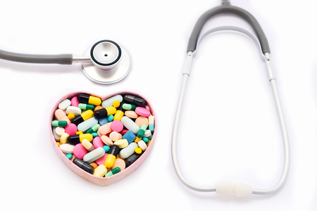 Drugs for heart disease treatment Stock Photo