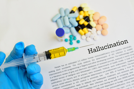 Drugs for hallucination treatment