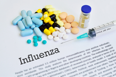 h1n1 vaccinations: Influenza treatment Stock Photo
