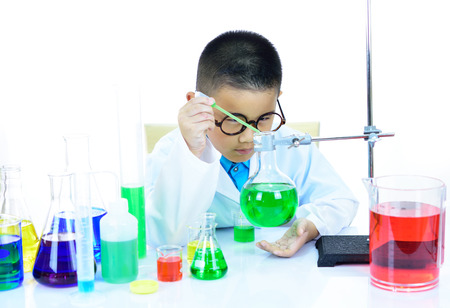 Young scientist working in research laboratory