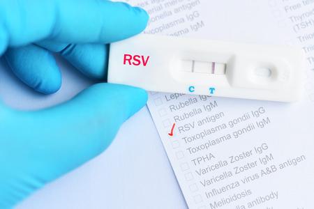 RSV positive test result by using rapid test cassette