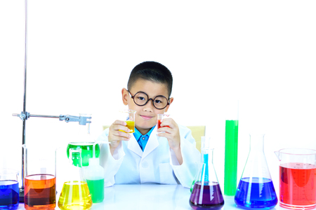Young Asian scientist working in research laboratory 스톡 콘텐츠