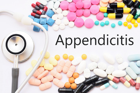 Drugs for appendicitis treatment, medical concept