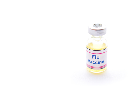 Bottle of Flu vaccine for injection, protective vaccine for influenza virus