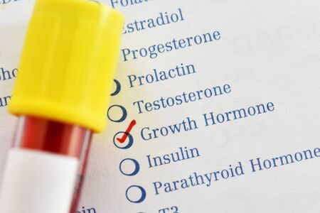 Blood sample for growth hormone test