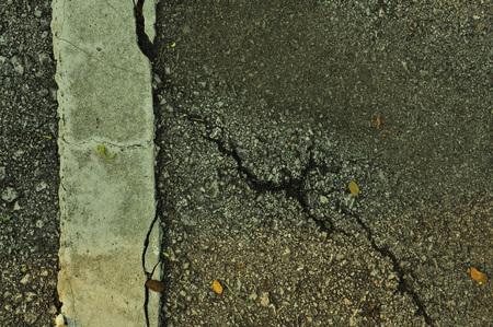 split road: Cracked road