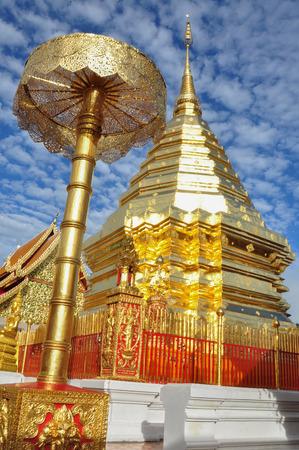 doi: Doi Suthep Temple in ChiangMai, Thailand Stock Photo