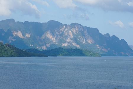 mountain in ratchaprapha dam,Thailand