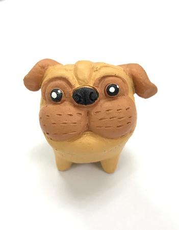 white dog: Lovely ceramic dog for gift. Stock Photo