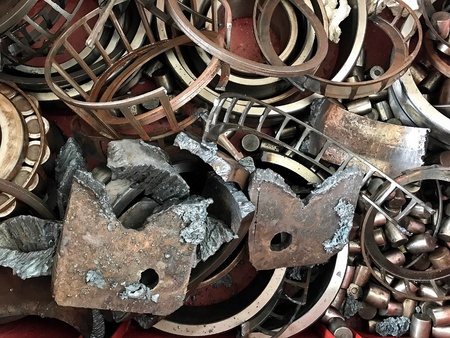 Scrap material, a small piece or a number of thing, especially those left after most have been used. Stock Photo