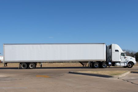 Truck blanked out and ready for your logo Standard-Bild