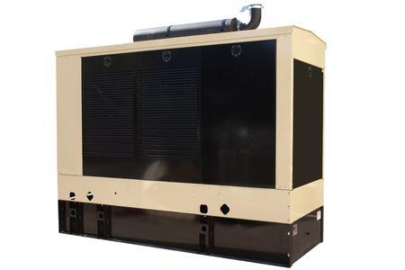 격리 된 산업용 크기 백업 발전기입니다.