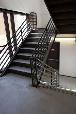 stairwell: Building staircase