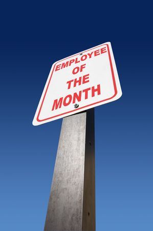 privilege: Employee of the month sign Stock Photo