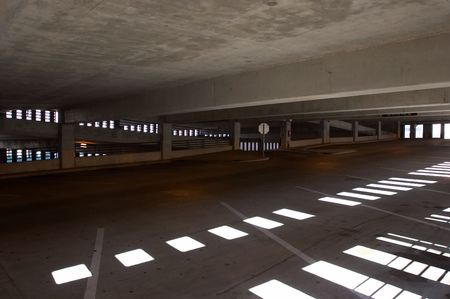 Empty parking garage
