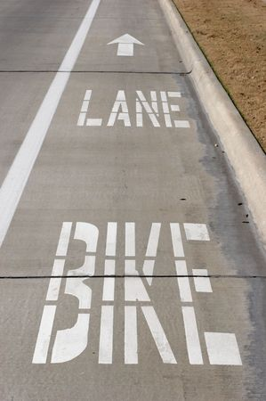 Bike lane on a road